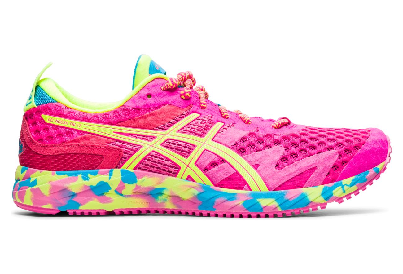 Chaussures de Running Femme Asics Gel Noosa Tri 12 Rose / Jaune ...