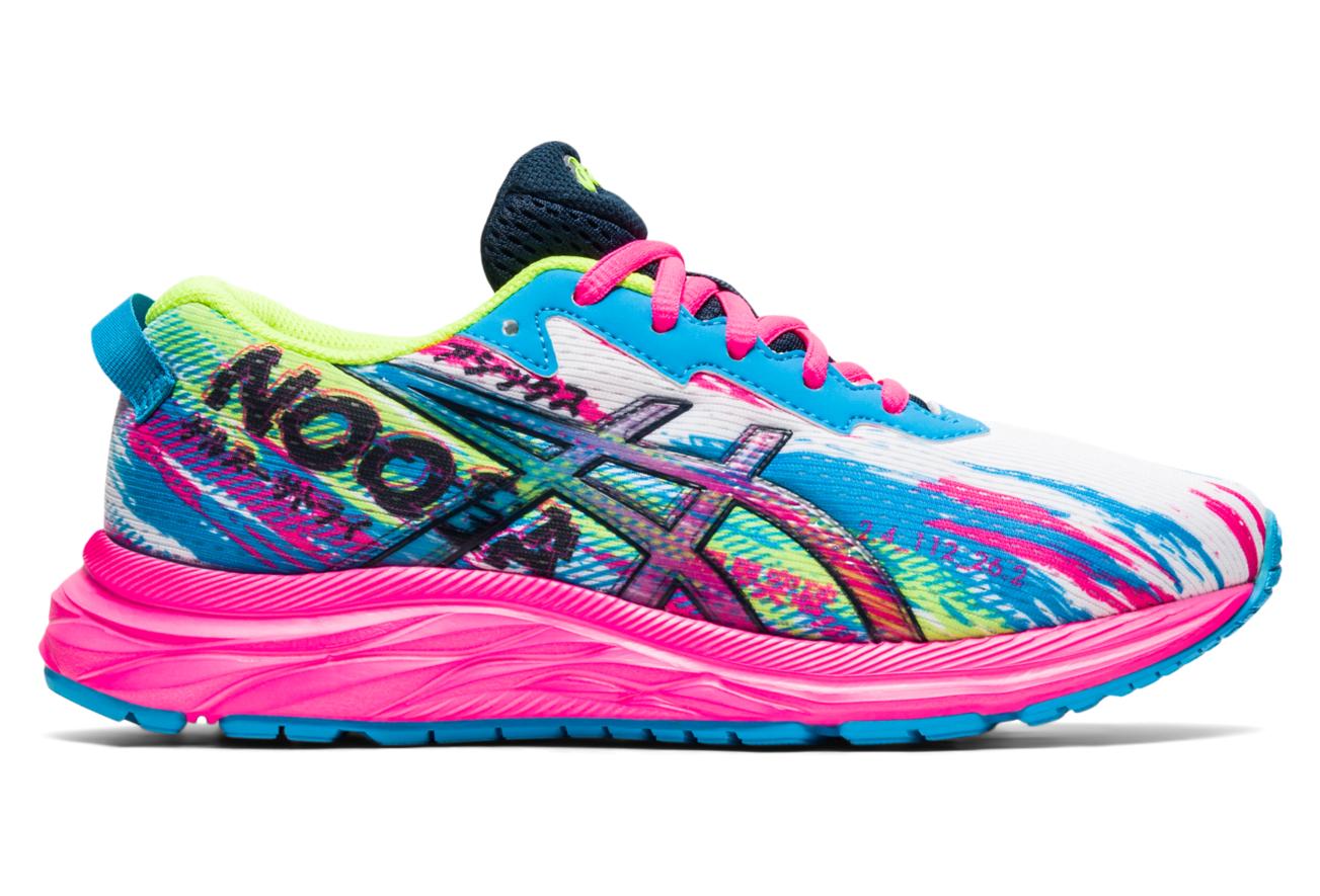 Chaussures Enfant Asics Gel Noosa Tri 13 GS Rose / Multi-couleur ...