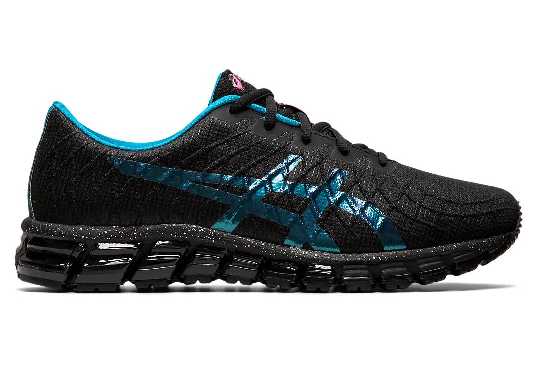 Chaussures de Running Asics Gel Quantum 180 4 Noir / Bleu ...