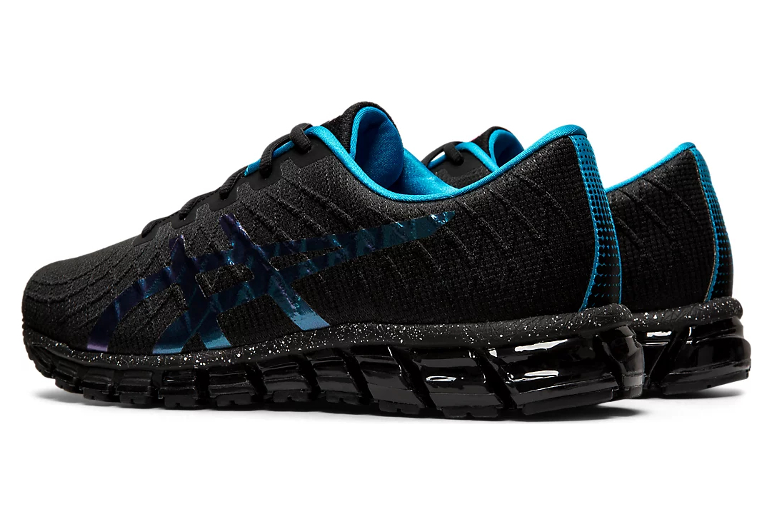 Asics Gel Quantum 180 4 Running Shoes Black Blue   Alltricks.com