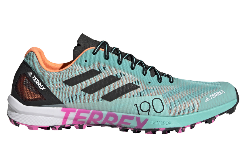 Adidas Terrex Speed Pro Blue Pink Trail Shoes For Men