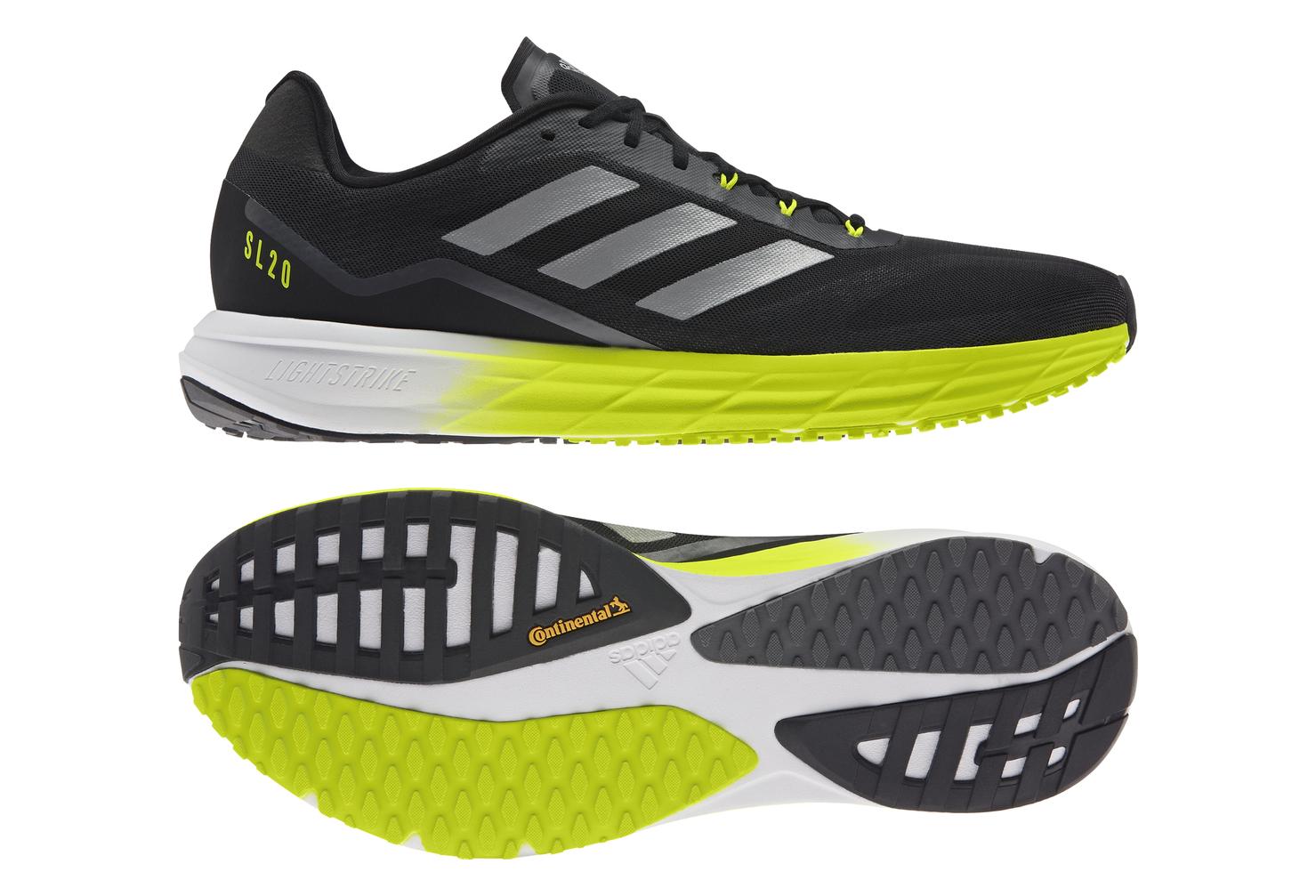 Adidas SL20 2 Running Shoes Black Yellow Mens