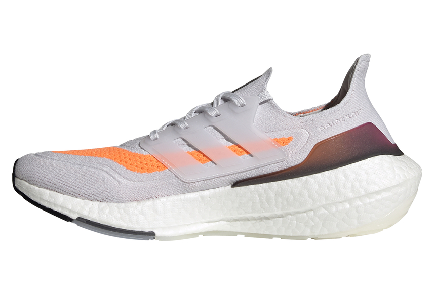 Adidas UltraBoost 21 Running Shoes White Orange Pink Mens