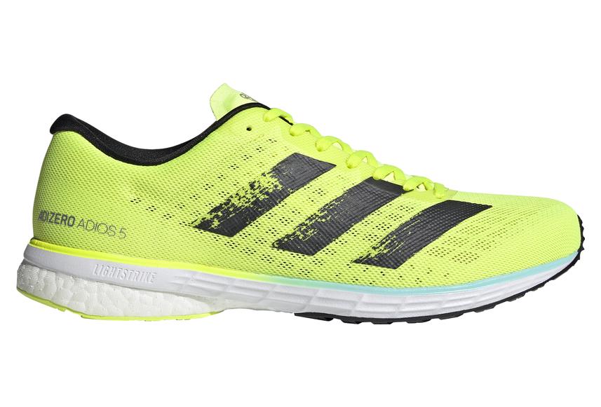 yellow adidas running shoes