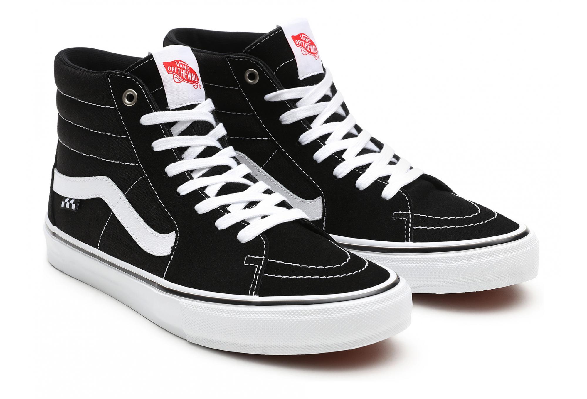 Chaussures Skate Vans SK8-Hi Noir/Blanc | Alltricks.fr