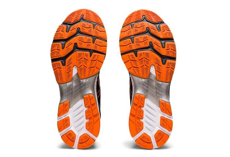 Asics Gel Kayano 27 Black Orange Running Shoes Mens