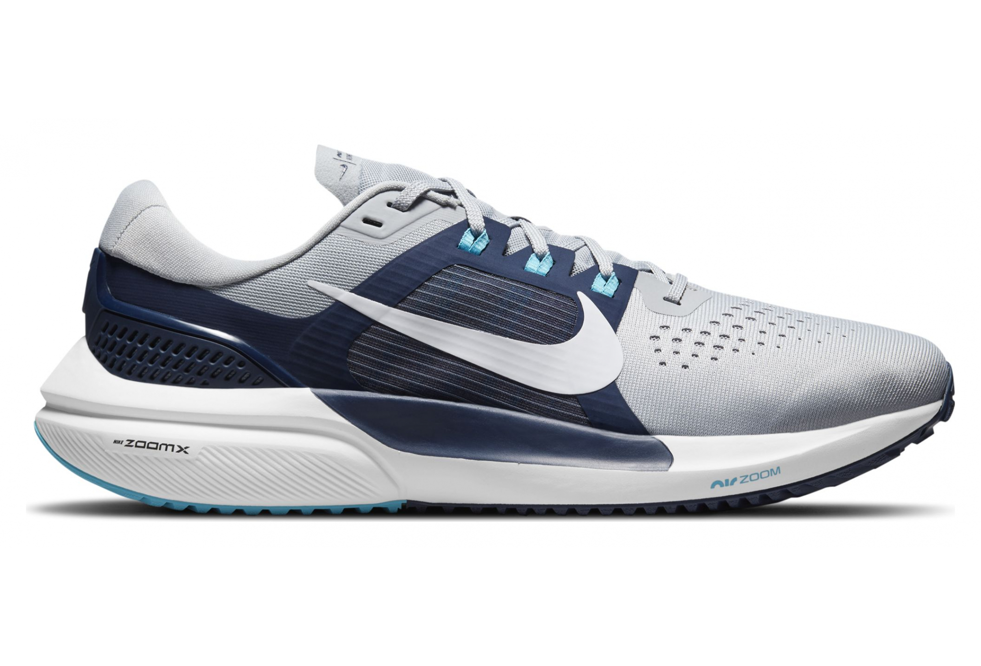 Nike Air Zoom Vomero 15 Gray / Blue Pair of Shoes
