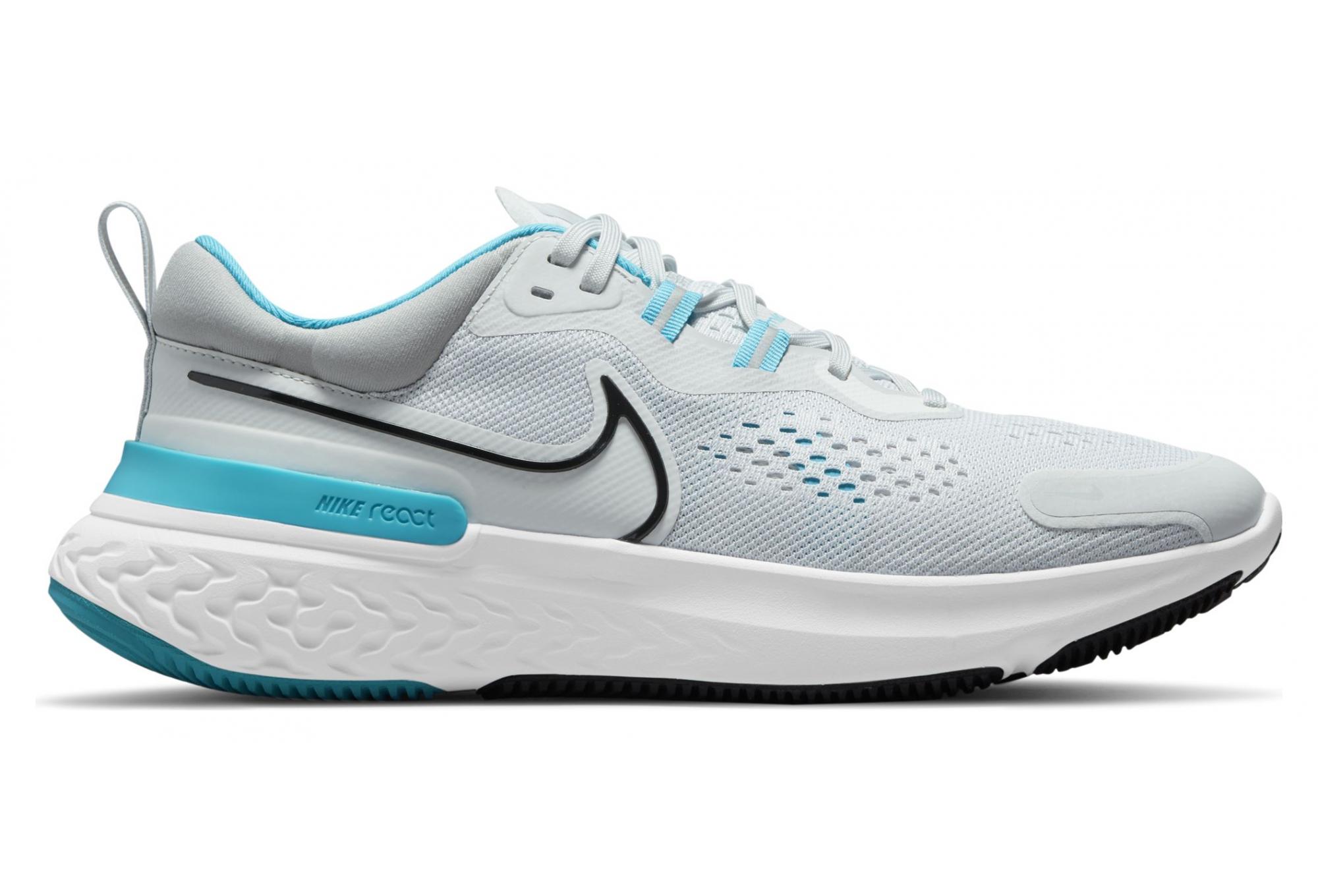 Nike React Miler 2 Gray / Blue Pair of Shoes