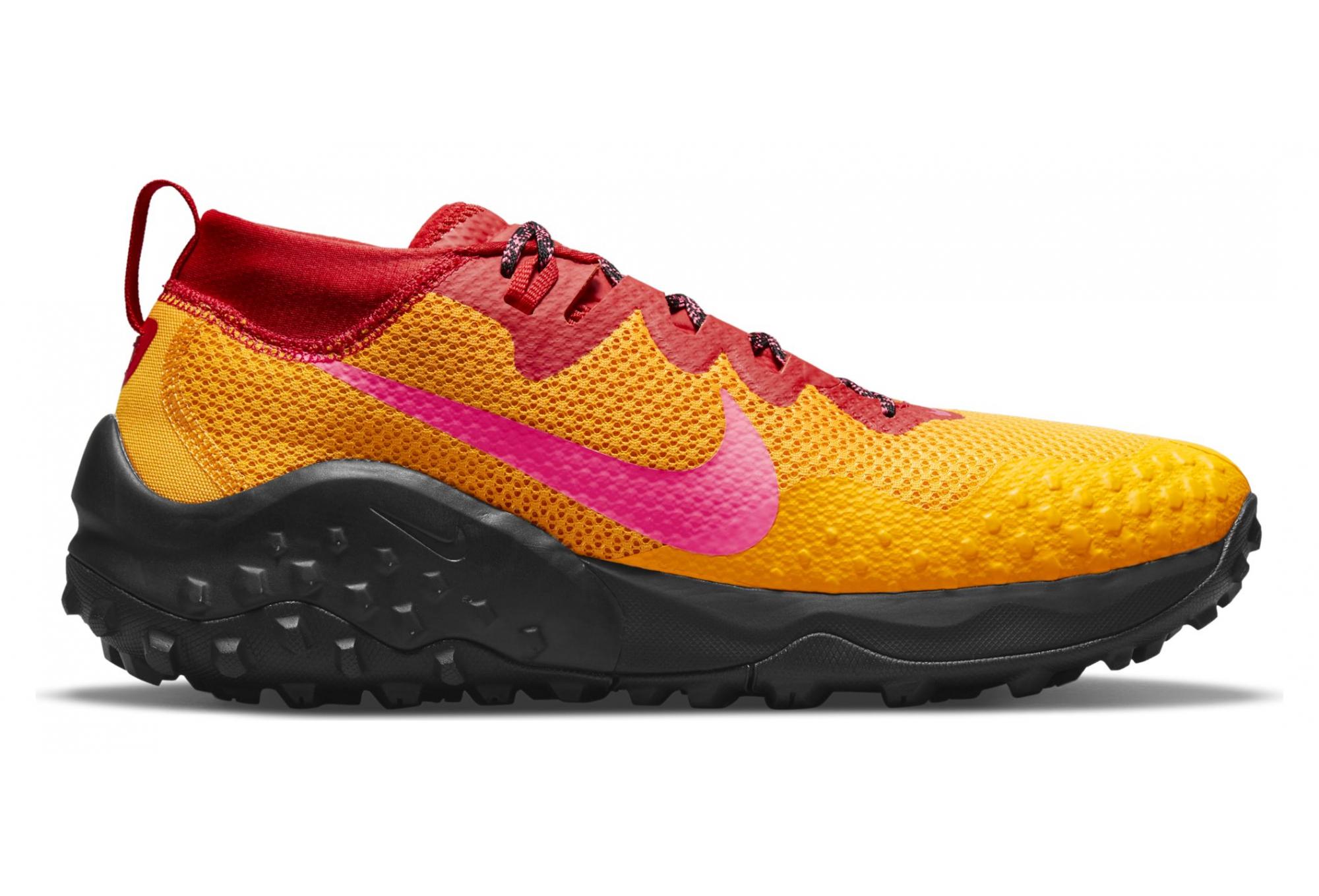 Pair of Nike Wildhorse 7 Trail Shoes Yellow / Orange / Pink Unisex ...