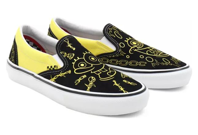 Vans Mike Gigliotti Spongebob Skate Slip-In Scarpe Nere / Gialle