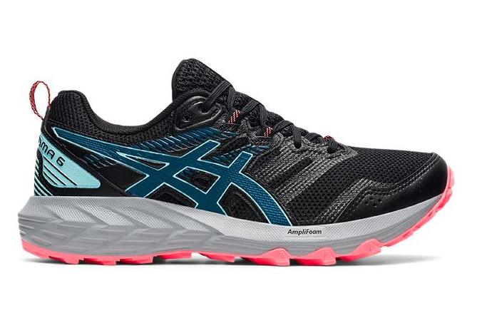 Women's Asics Gel Sonoma 6 Trail Shoes Black Blue