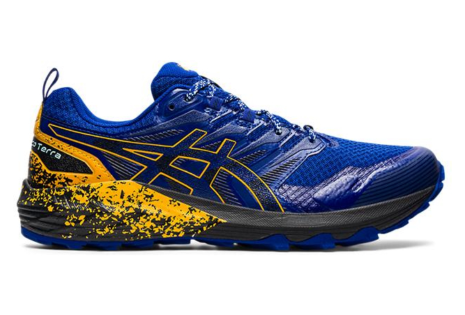 Asics Gel Trabuco Terra Trail Shoes Blue Yellow