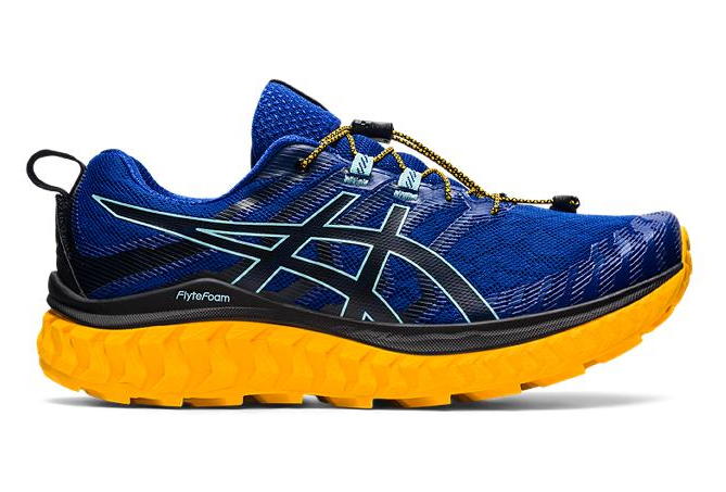 Asics Trabuco Max Trail Shoes Blue Yellow
