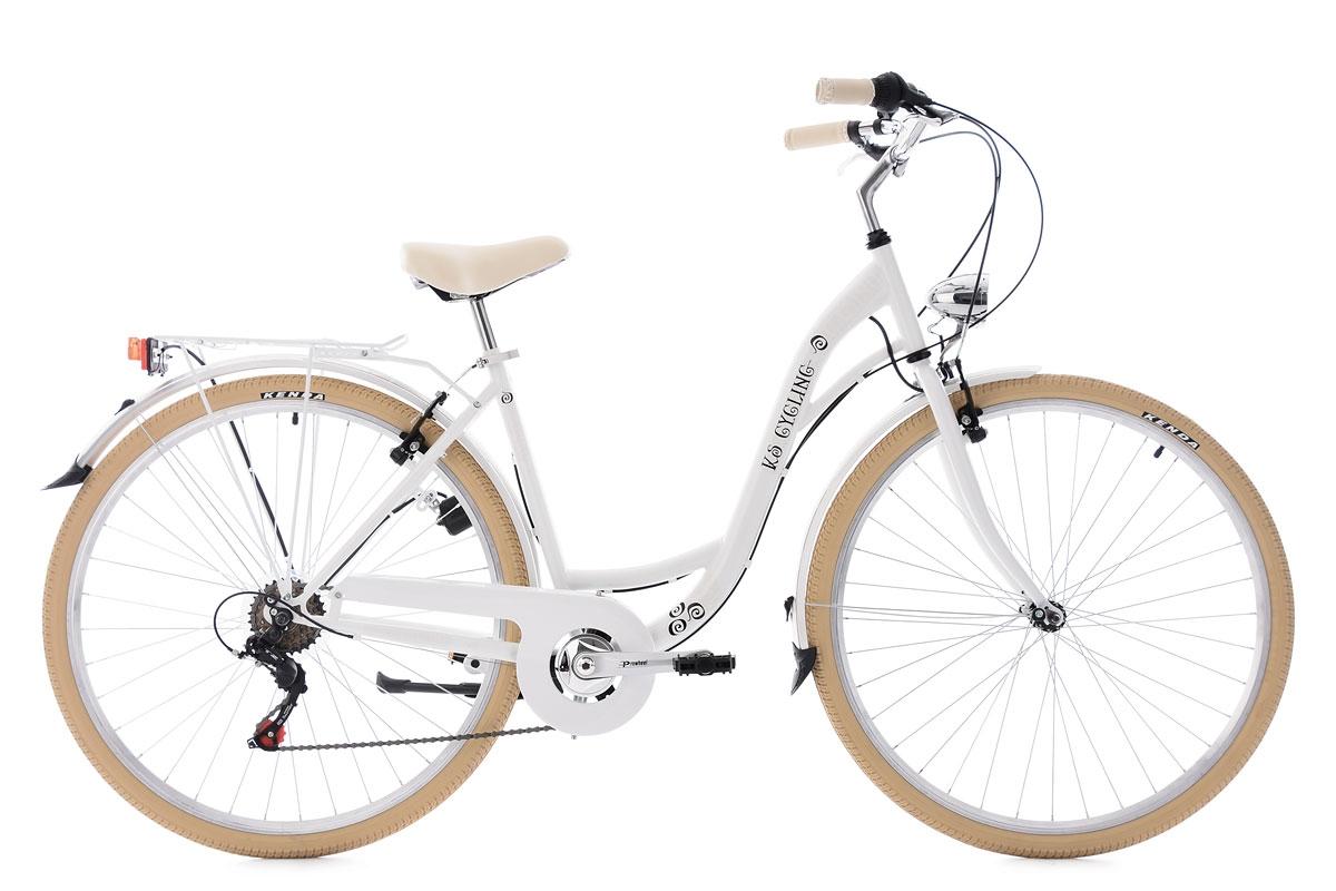 Vélo de ville 28\'\' Casino blanc TC 48 cm KS Cycling   Alltricks.de