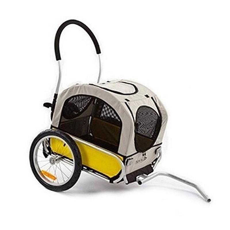 remorque poussette aluminium pliable pour chien maxxus. Black Bedroom Furniture Sets. Home Design Ideas