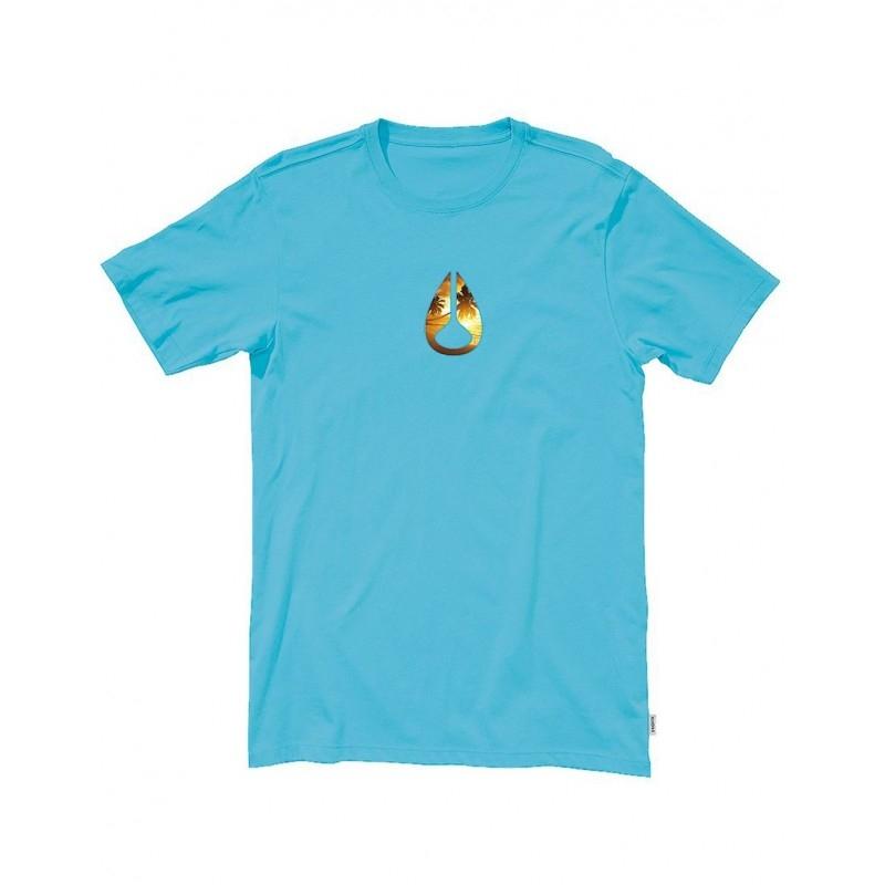 T shirt nixon tourist ocean blue for Ocean blue t shirt