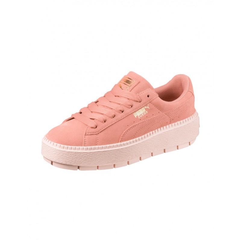 ee7204251eb Chaussures Puma W Suede Platform Trace - Peach Beige   Pearl ...