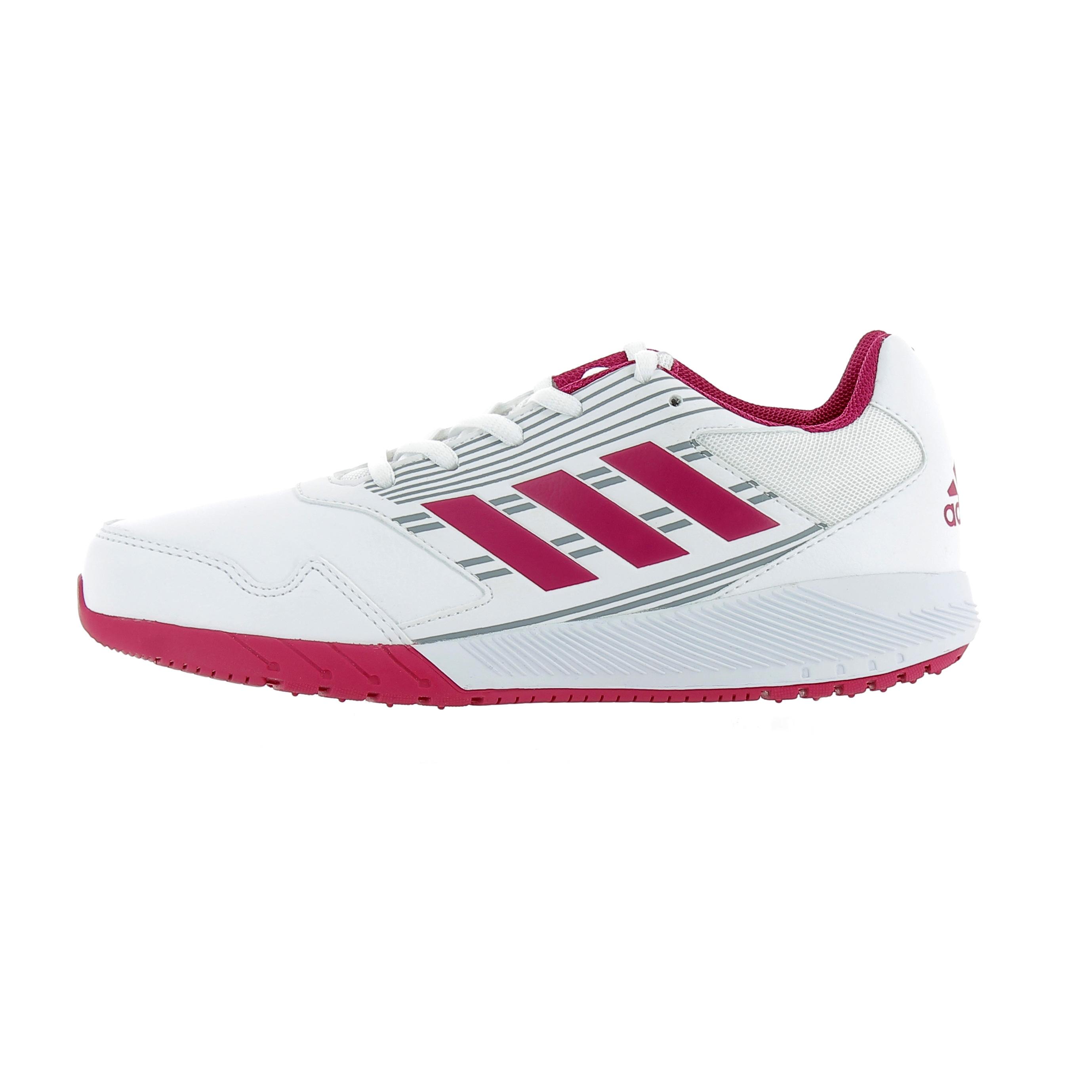 84cec0786177e Chaussures Enfant adidas running Altarun K Blanc   Rose