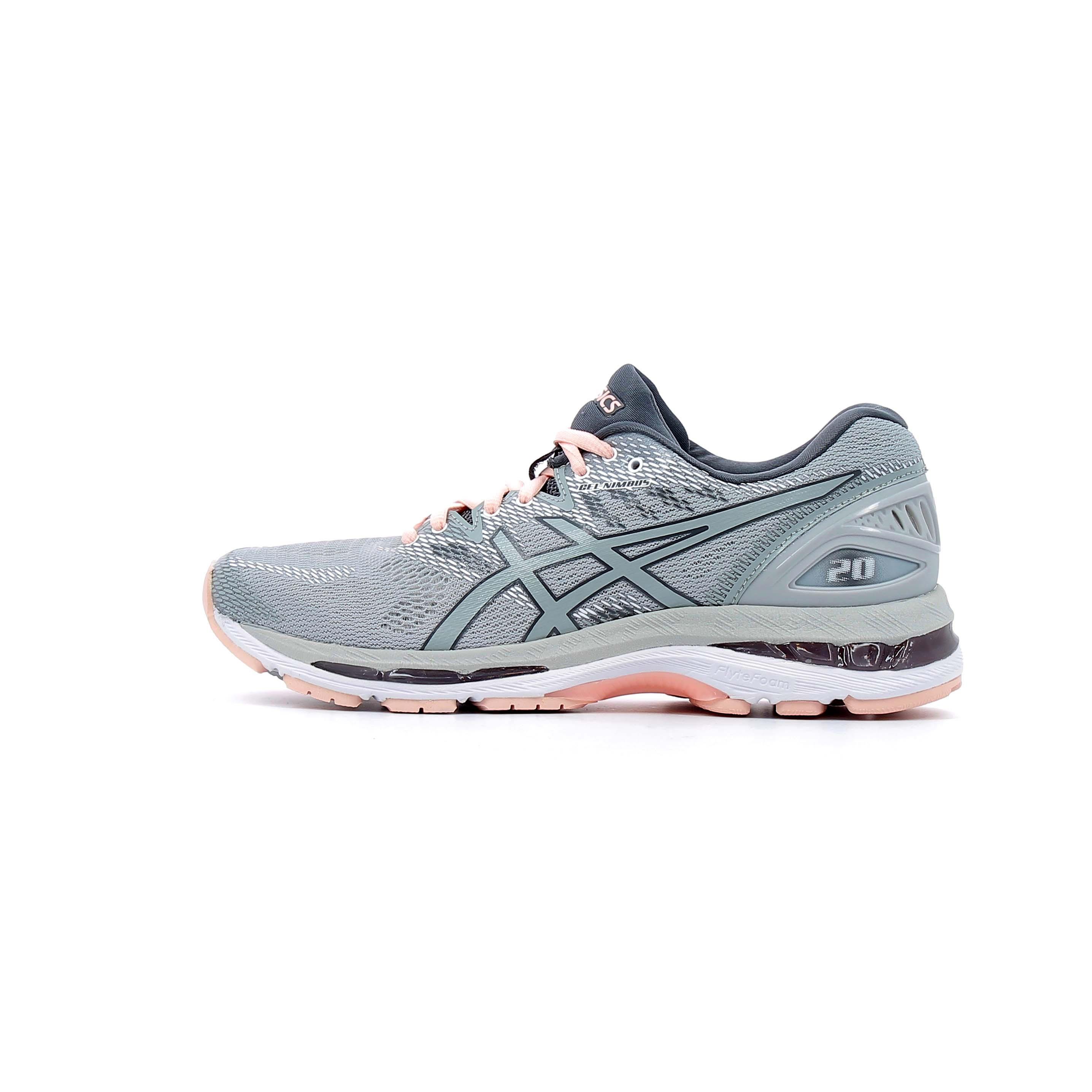 7775965c1ccc33 Chaussures de Running Femme Asics Gel Nimbus 20 Women Gris ...