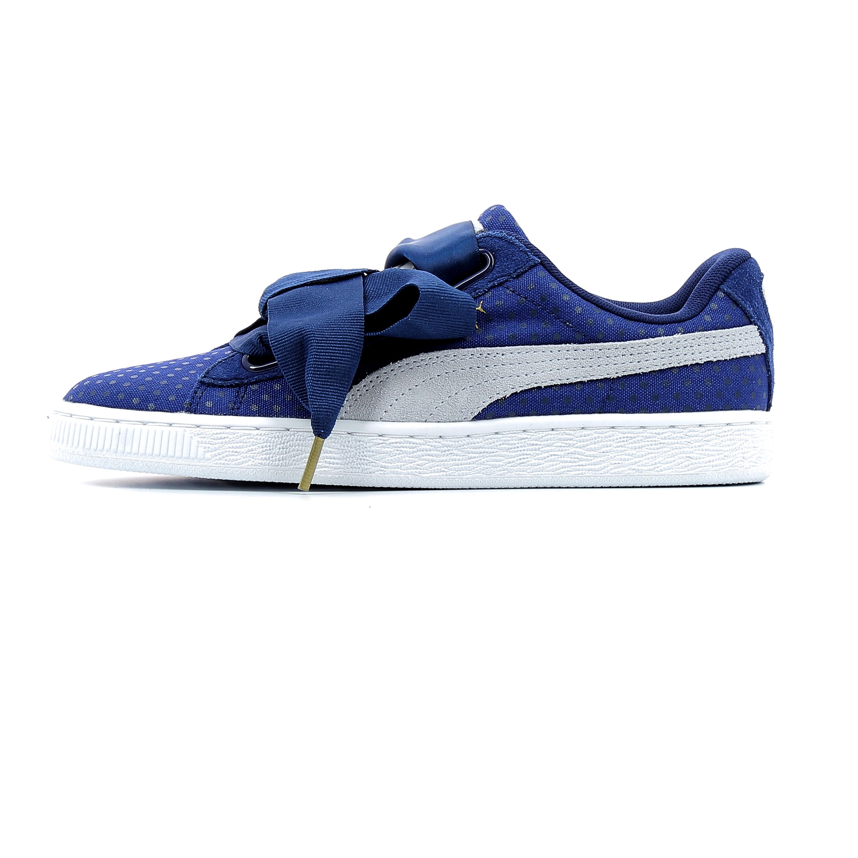 the latest aed33 0484e Baskets basses Puma Basket Heart Denim Wn's