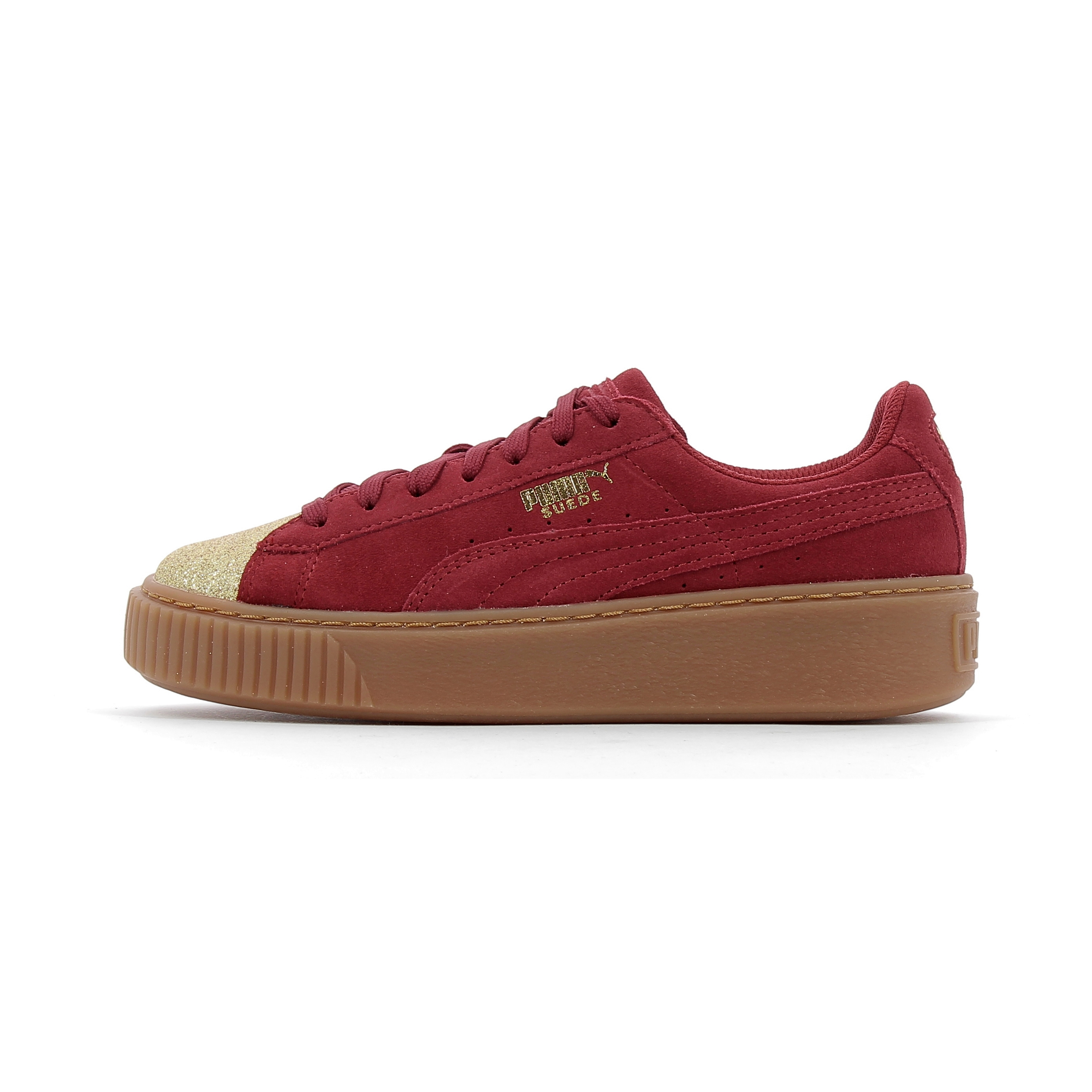 competitive price 7efe3 2ea1a Baskets basses Puma Suede Platform Glam Jr