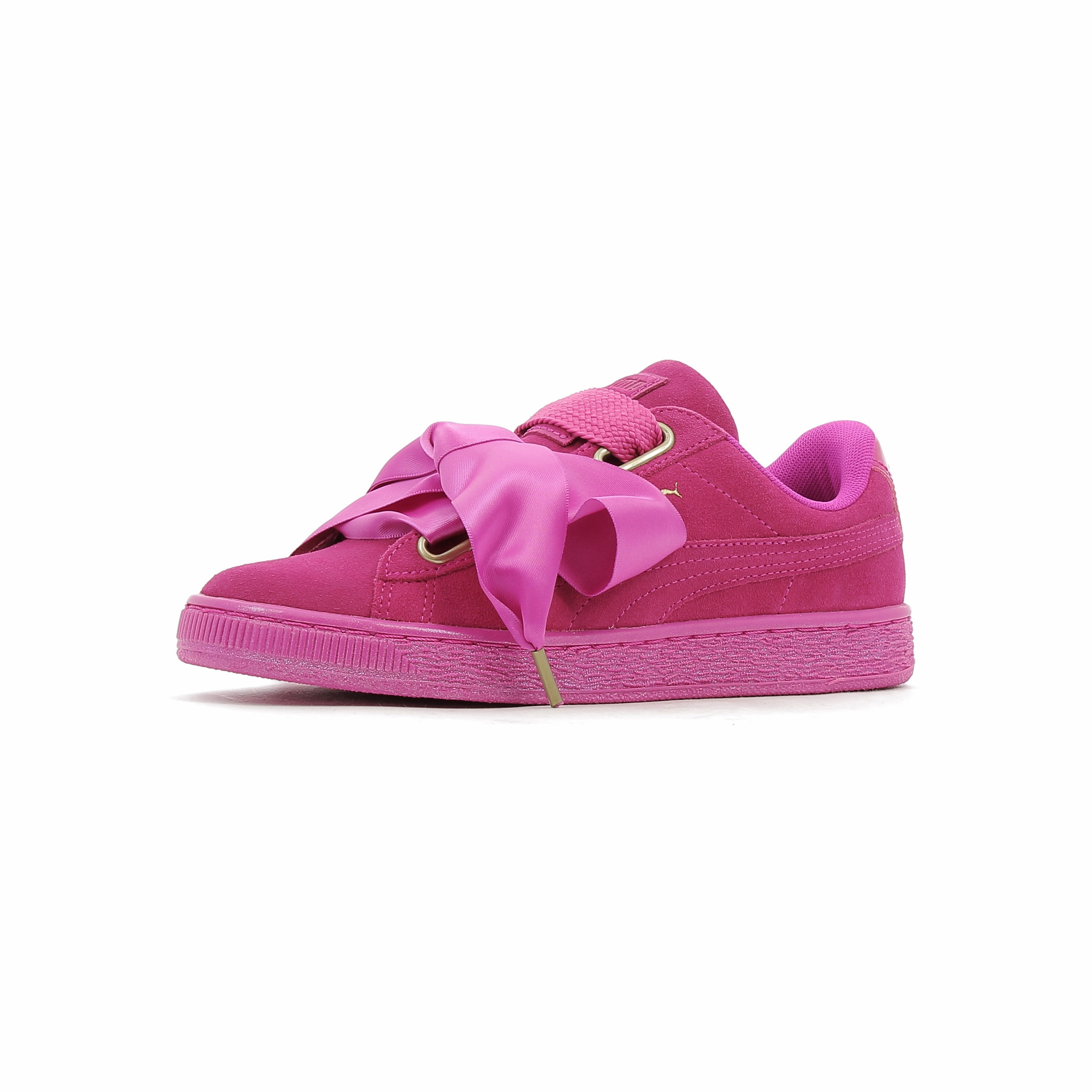 new style 44fed 2b1f8 Baskets basses Puma Suede Heart Satin