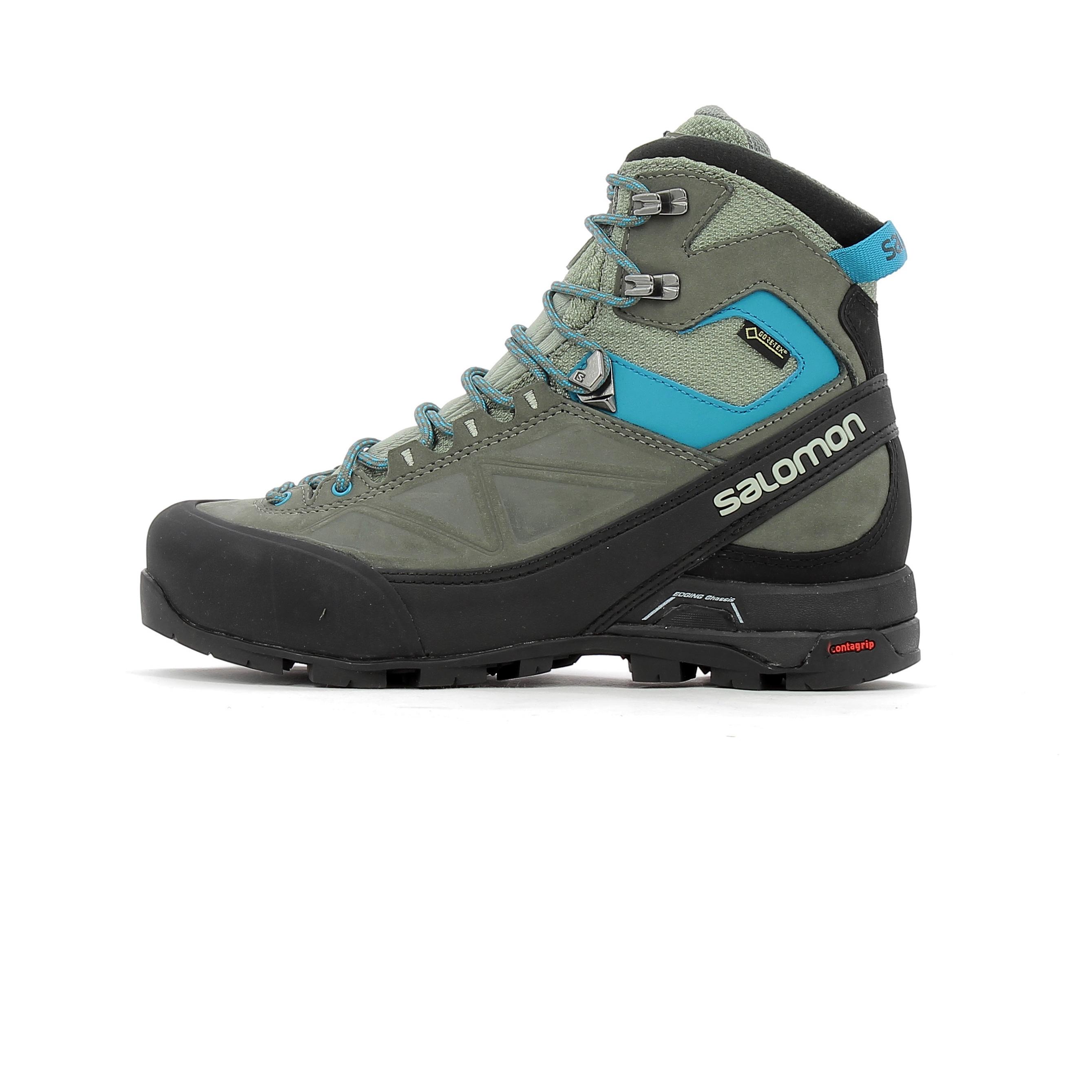 4dc23dbd4e5 Chaussure de randonnée en cuir Salomon X ALP MNT Gore-Tex W ...
