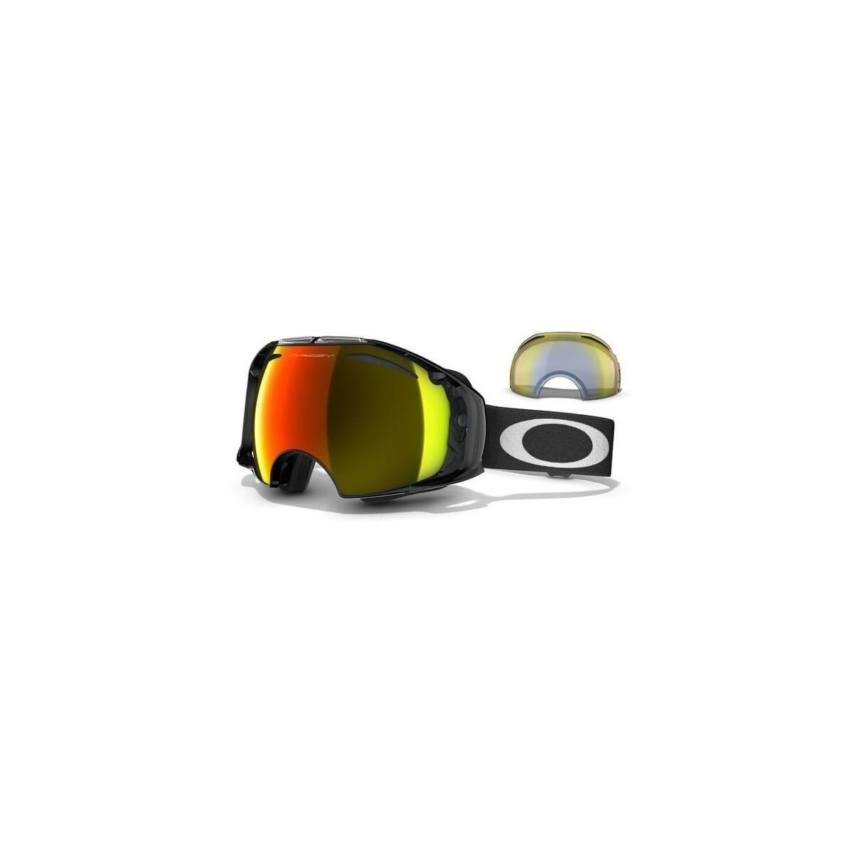 dbcc52fccb Masque Ski Oakley Airbrake Jet Black Fire et Hi Yellow   Alltricks.com