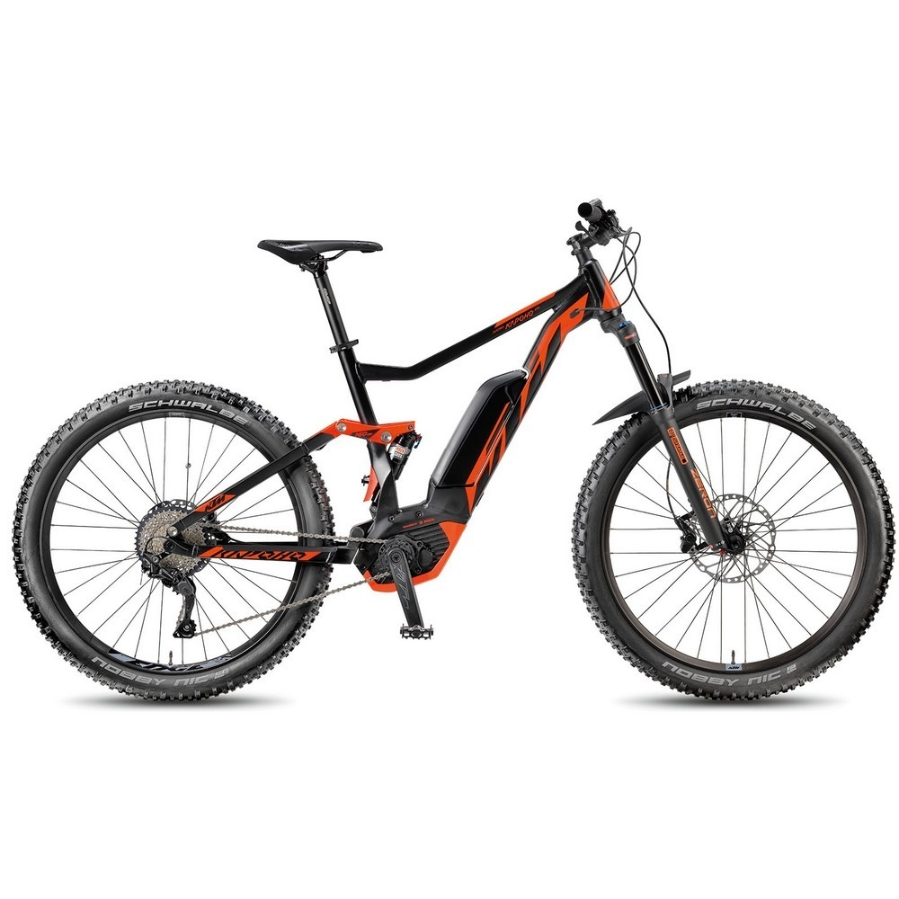 vtt electrique tout suspendu ktm macina kapoho 275 shimano deore 10v 27 5 noir. Black Bedroom Furniture Sets. Home Design Ideas