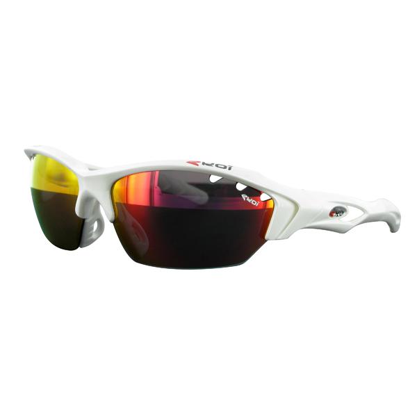 Ekoi paire de lunettes devil evo blanc verres iridium ventil s - Nettoyer lunettes vinaigre blanc ...