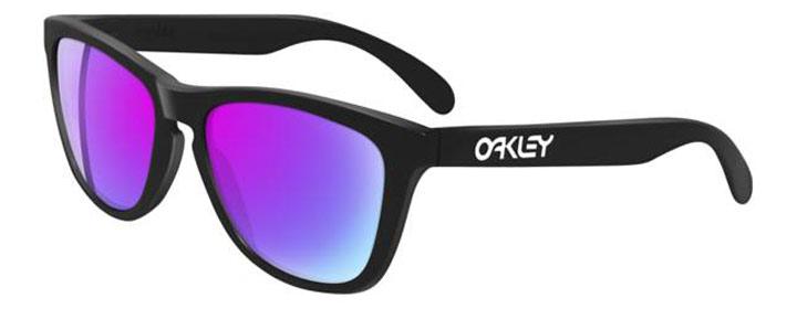 oakley frogskins neri lenti blu