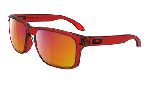 a3174cf916aab OAKLEY pair of glasses Holbrook Crystal Red w   Ruby Iridium OO9102-04 Ref