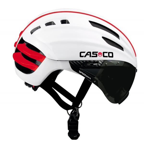 Casco Casque Speedairo Avec Visière Blanc Rouge Alltricksfr