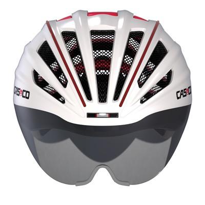 casco casque speedairo avec visi re blanc rouge. Black Bedroom Furniture Sets. Home Design Ideas