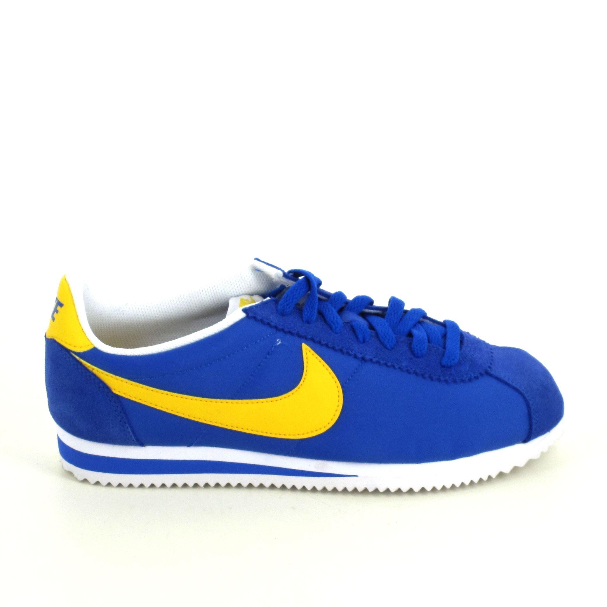 Nike Nylon Bleu Classic Cortez Jaune Sneakers OZiuXTPk