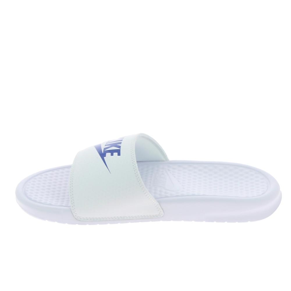 Sandale, Nu piedNu pied et sandale NIKE Benassi JDI Blanc Bleu