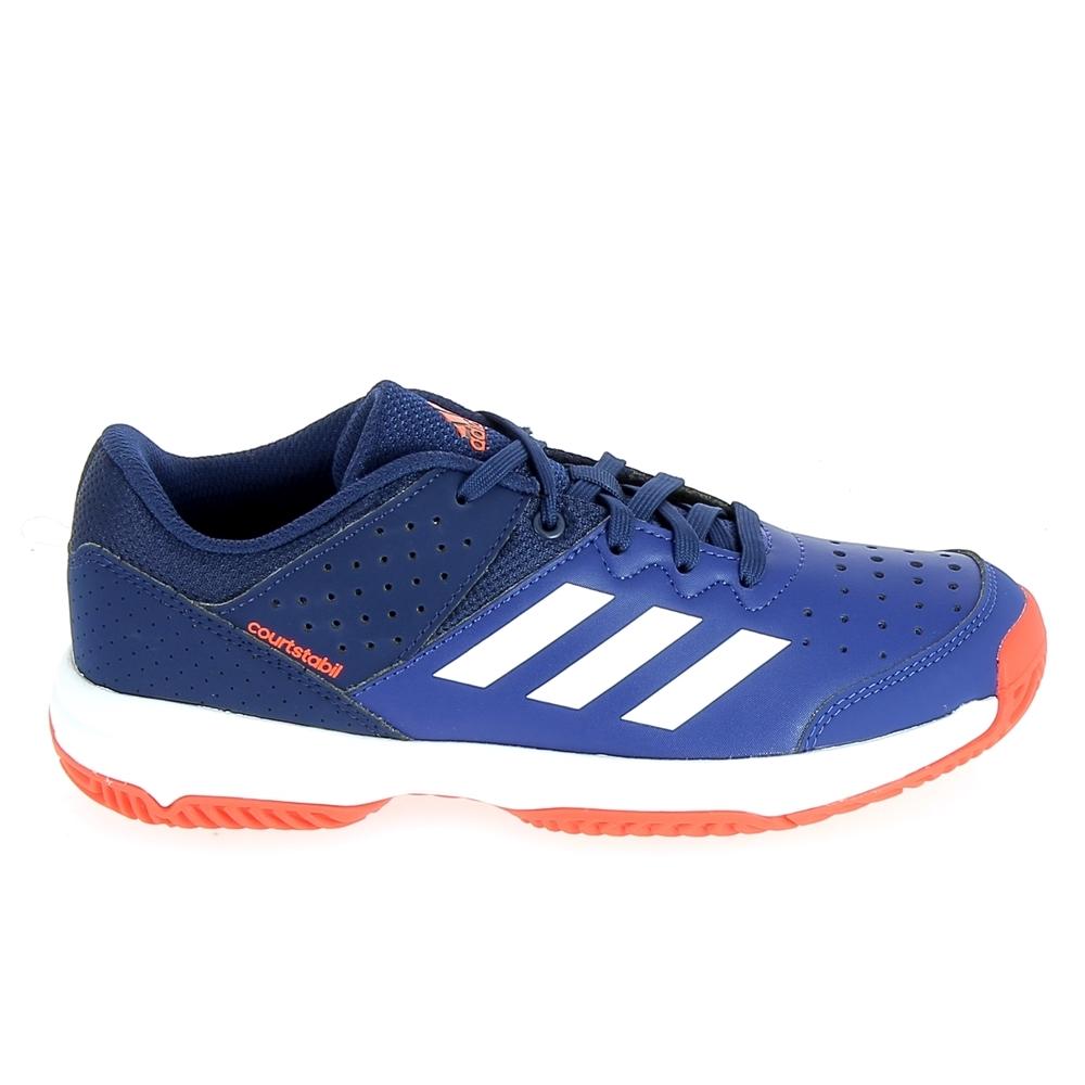 Chaussure de Sports Co ADIDAS Court Stabil Jr Marine Blanc ... f6438e4fa01