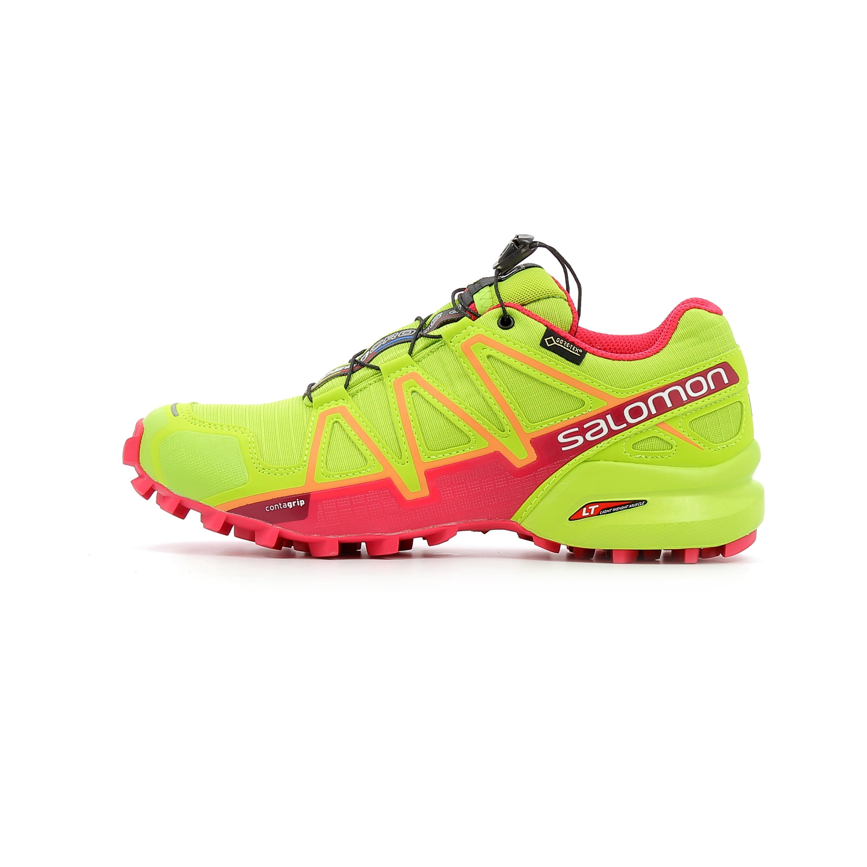 big sale b6106 831af Chaussures de Trail Femme Salomon Speedcross 4 GTX W Vert