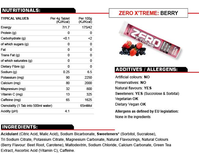 High5 Zero Xtreme Energy Drink electrolitos Bayas Taste