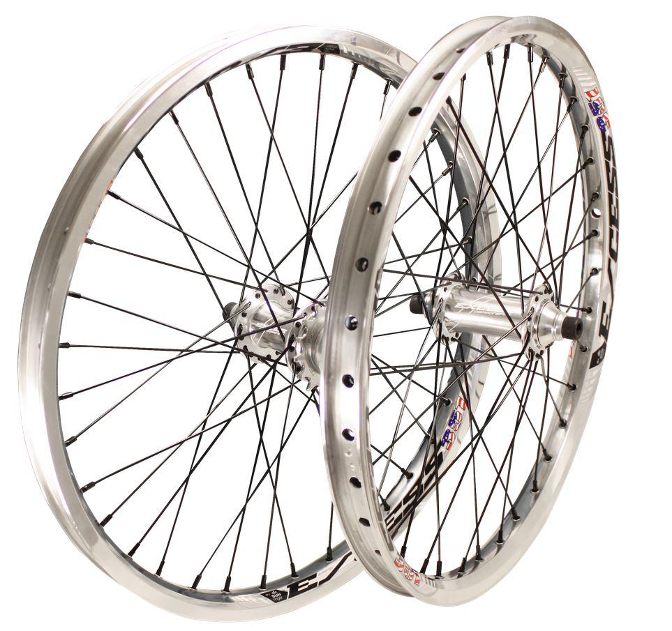roue bmx chrome