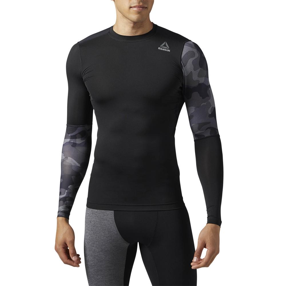 6dca6b4b Tee-shirt de compression Reebok ActiveChill Graphic Long Sleeve Compression  Shirt