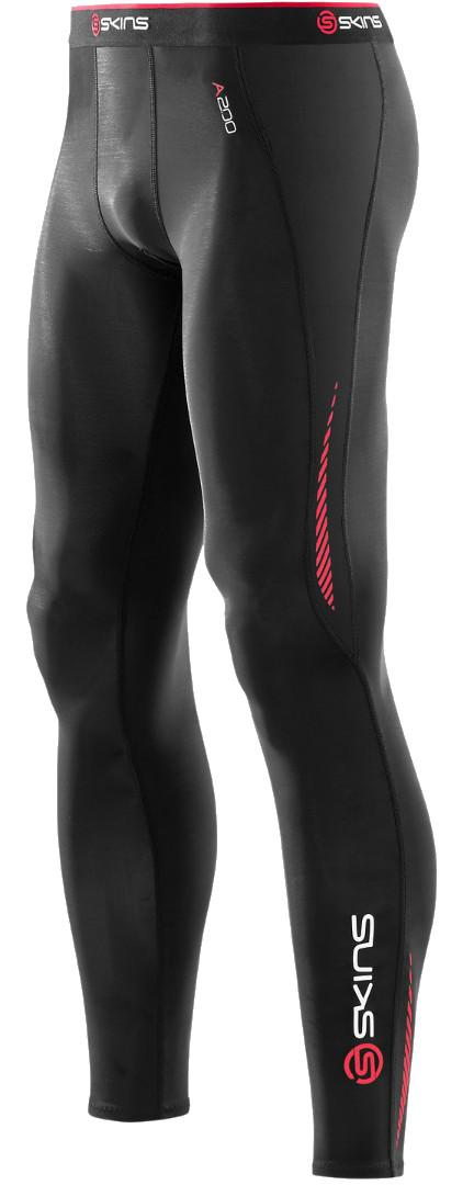 d1a8b368abbe9 SKINS A200 Men's Compression Long Tights Black Red | Alltricks.com