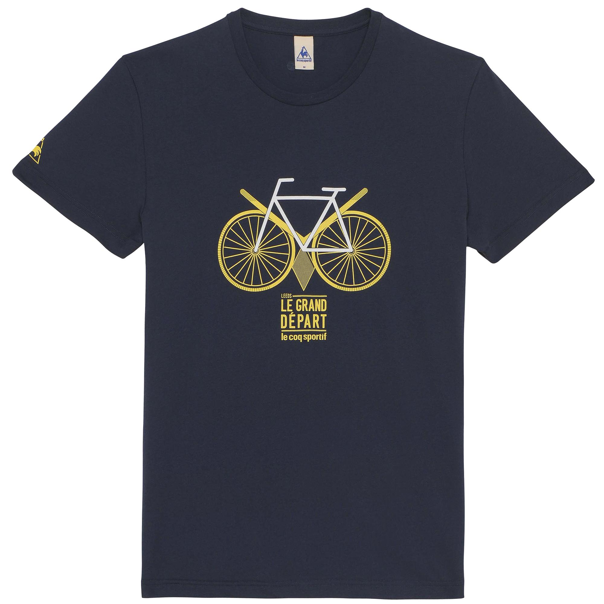 LE COQ SPORTIF 2014 T-Shirt Tour de France N°13 STARTING LEEDS Blue ... a1f704836