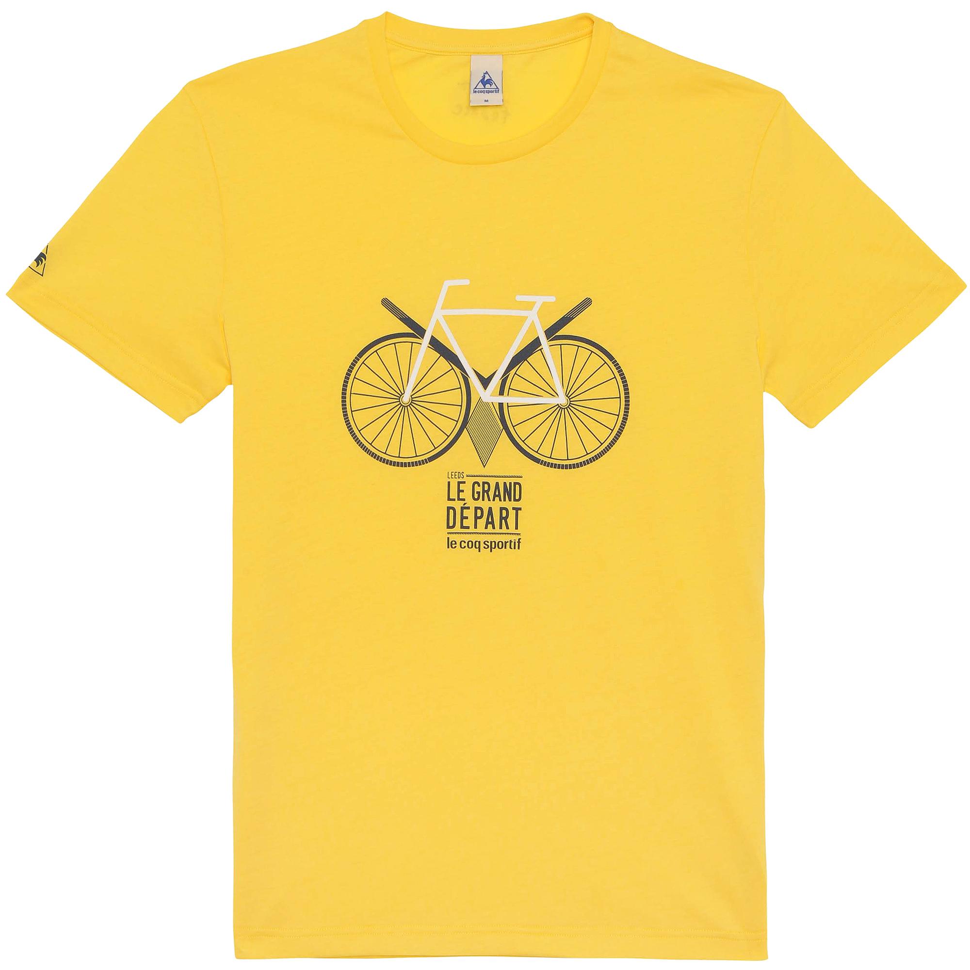 LE COQ SPORTIF 2014 T-Shirt Tour de France N°13 STARTING LEEDS Yellow  64e01a27e