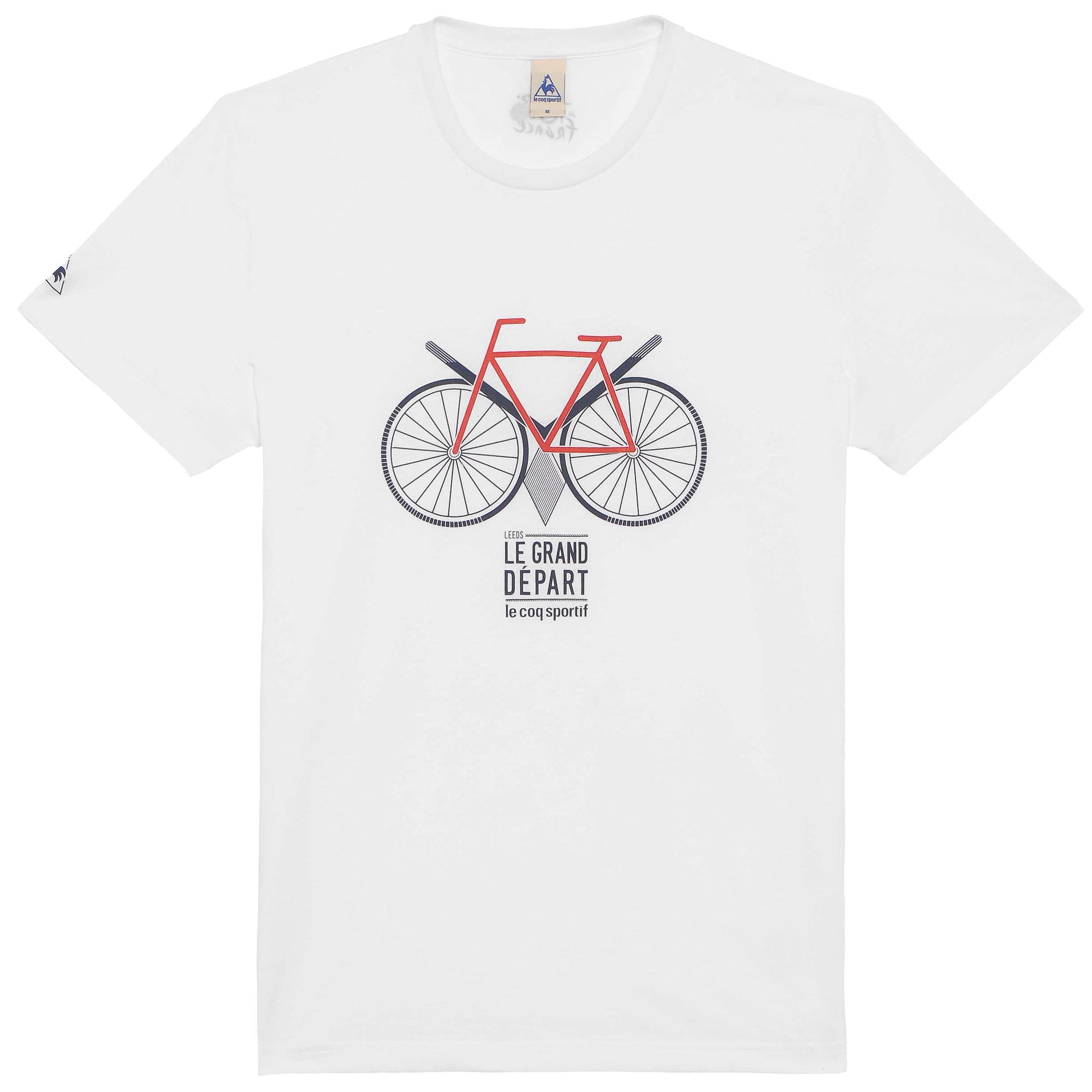 LE COQ SPORTIF 2014 T-Shirt Tour de France N°13 STARTING LEEDS White ... 709c7c864