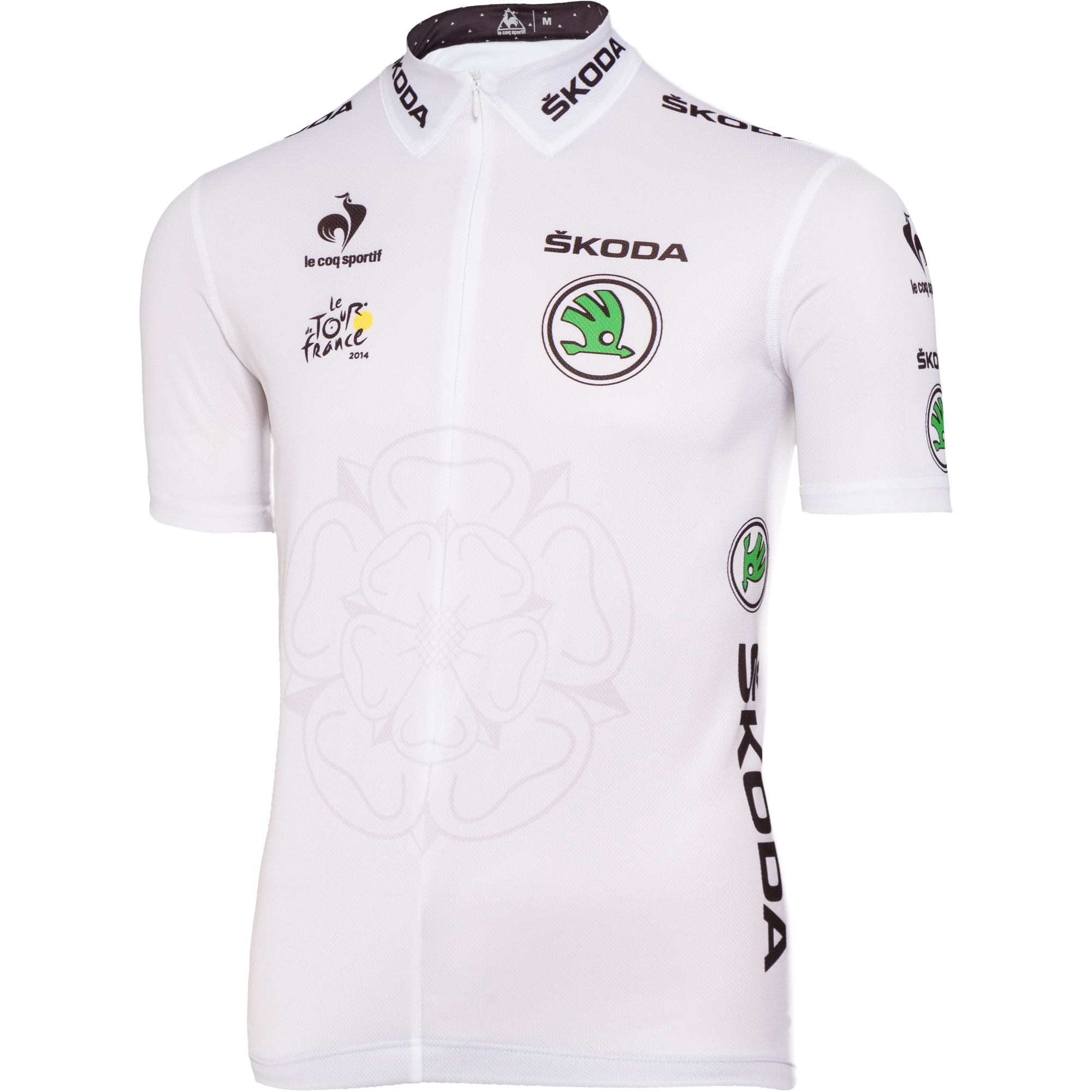 LE COQ SPORTIF 2014 White Replica Jersey Tour de France  4ea9137df