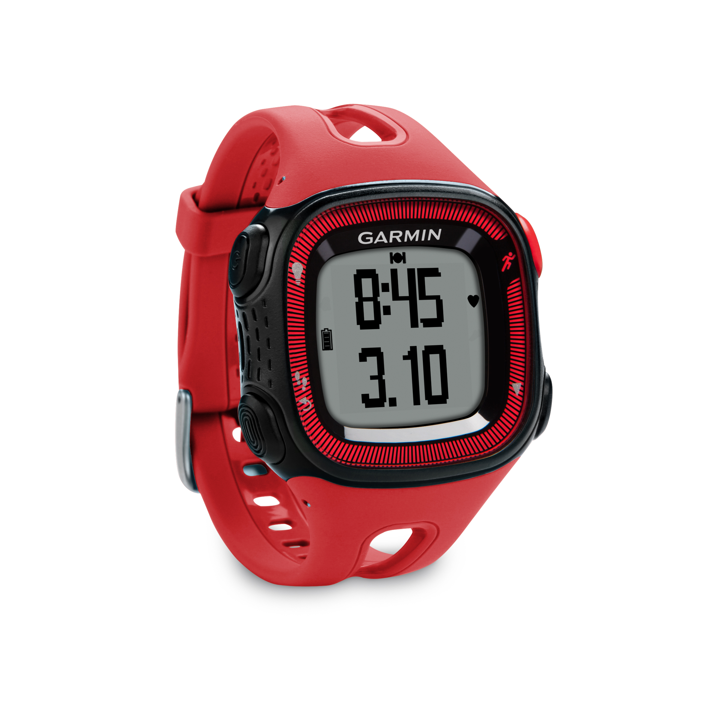 garmin montre gps forerunner 15 noir rouge. Black Bedroom Furniture Sets. Home Design Ideas