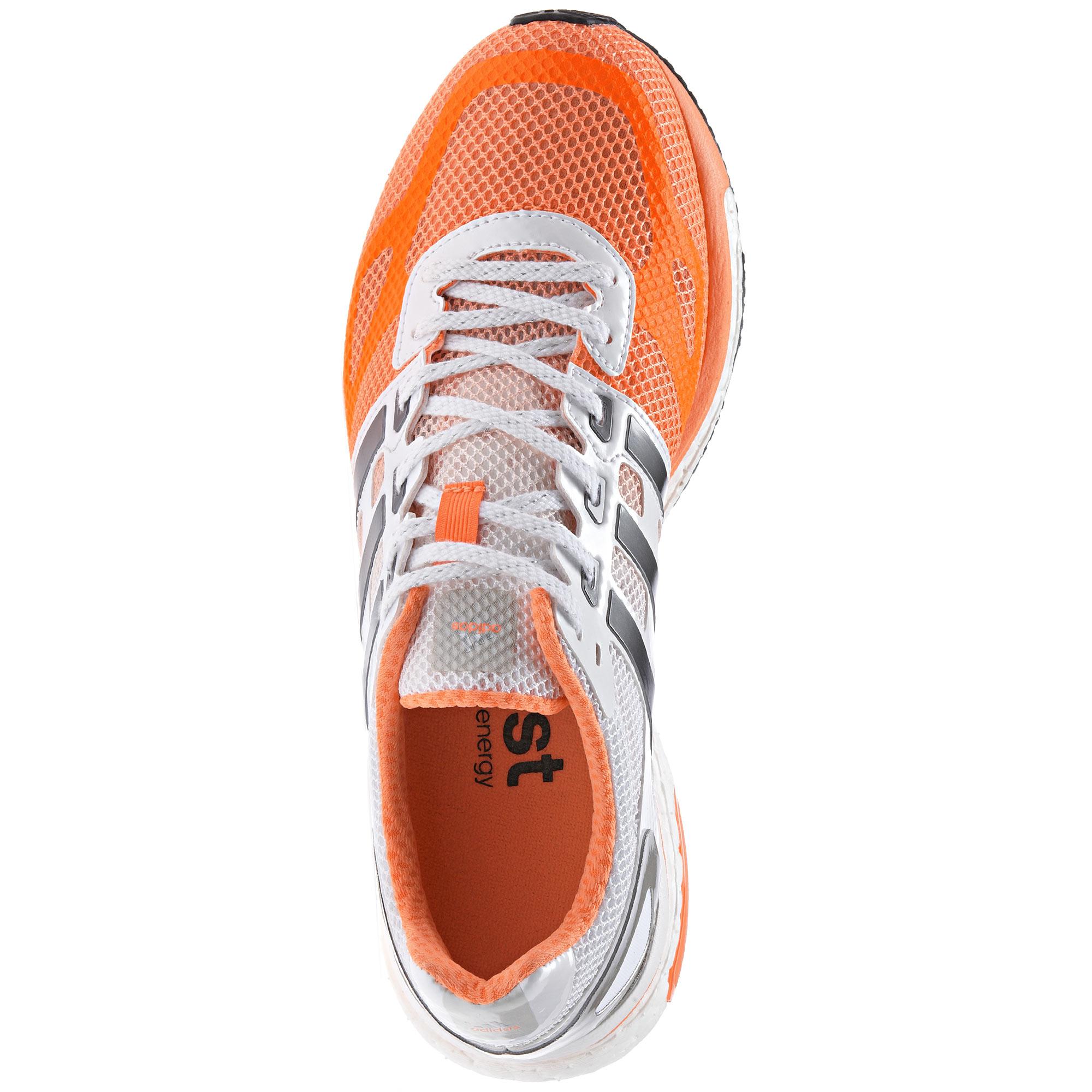 new arrival 5a7e4 e3934 Zapatillas Adidas Adizero Adios Boost Mujer Blanco Naranja