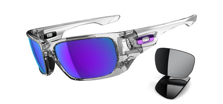 OAKLEY Paire de Lunettes Style Switch Polished Clear  Violet Iridium Ref  OO9194-03 6b466ace8407