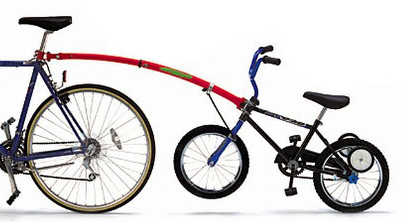 Trail Gator Tandem Tow Bar For Kids Bikes Red